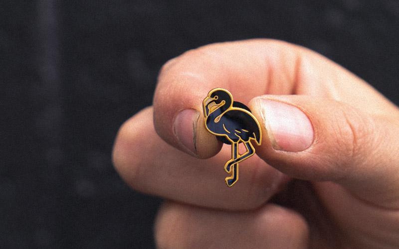 Black Flamingo Pin by Underground Coffee Roasters