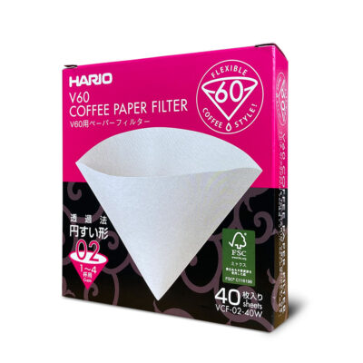 Hario V60 2-4 Cup 40 pack of Paper Filters