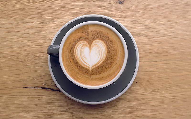 Latte Art, the heart