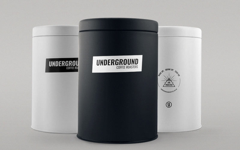 Underground Coffee Roasters Canisters