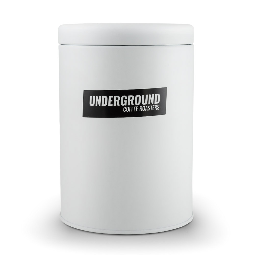 White, Air Tight Coffee Canister